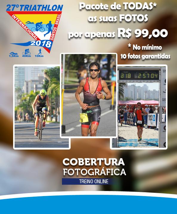Pacote de Fotos Triathlon Internacional de Santos 2018