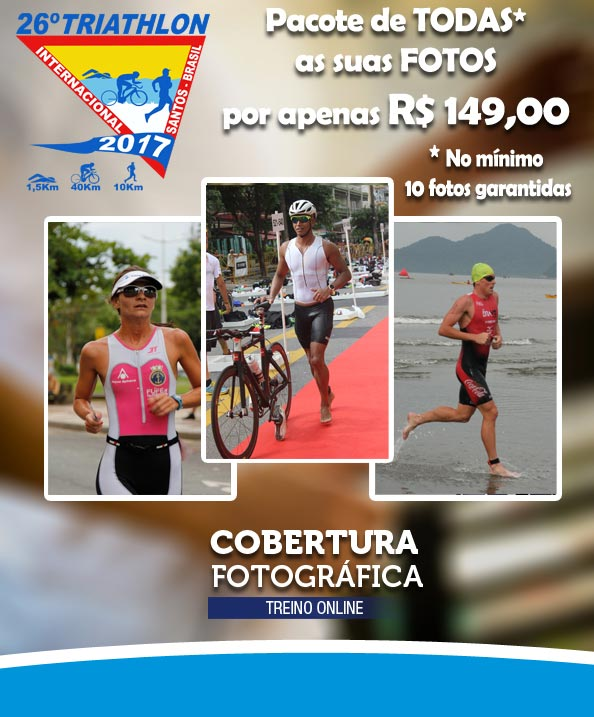 Pacote de Fotos Triathlon Internacional de Santos 2017